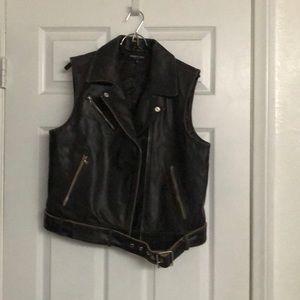 Women's Motorcycle Leather Vest